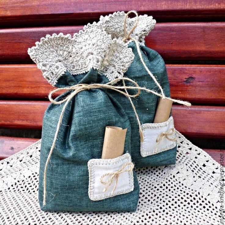 Купить Льняные мешочки для хранения трав - льняной мешочек, мешочек для трав, мешочек для кухни