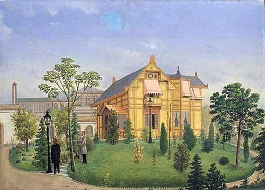 """Hüseyin Zekai Paşa'nın """"Yıldız Sarayı"""" isimli eseri, 19-20.yy. #artwork #painting #artist #hüseyinzekaipaşa #painter"""