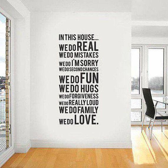 Black We DO Family Love Fun Wall Art Sticker