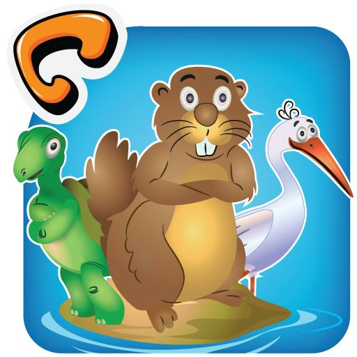 'Animal Pond' features a beaver, a duck, a frog, a crane, and a tortoise. They teach children about morals like responsibility and cleanliness through an interesting story. Simple interactive activities at key points within the story ensure effective knowledge retention. An array of interactivities can be attempted after reading the story as well. This application is available at Google Play Store.