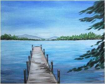 The Dock-remove the mountains, add an arm to the dock and...voila..Jennie Webber Lake!