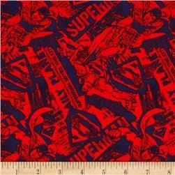 Superman News Red/Navy