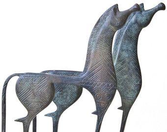 Caballo griego escultura arte geométrica escultura por GreekMythos