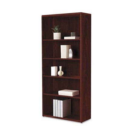 HON 10700 Series 5 Shelf Bookcase With Adjustable Shelves, Brown