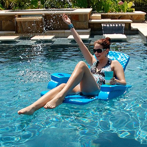 TRC Recreation Folding Baja Chair Foam Pool Float - Swimming Pool Floats at Hayneedle