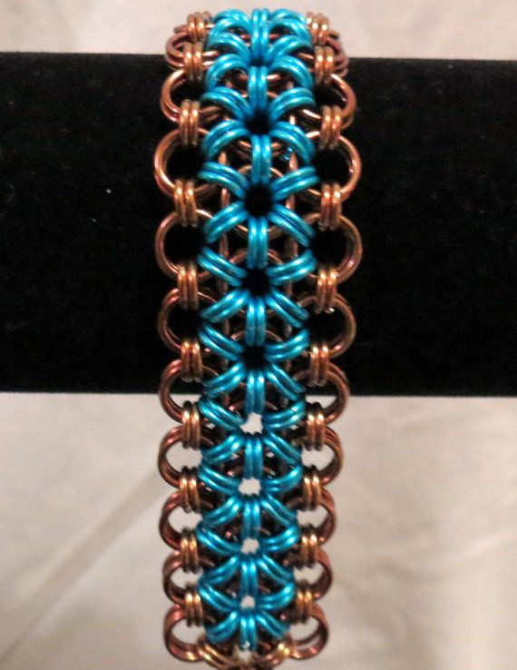 Flower Chainmaille Cuff Bracelet/Japanese by PawInspiredCreations