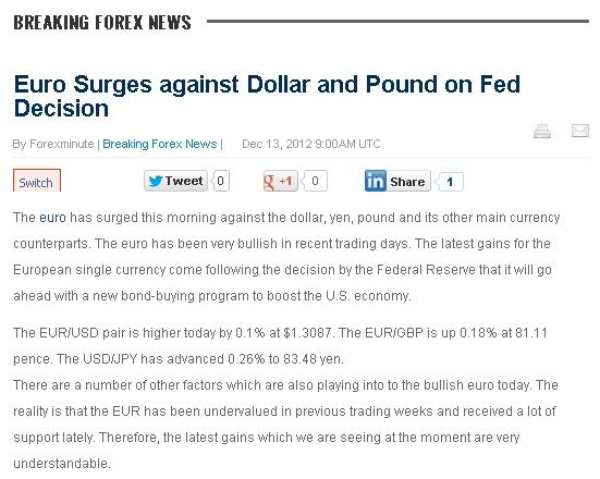Forex news euro dollar