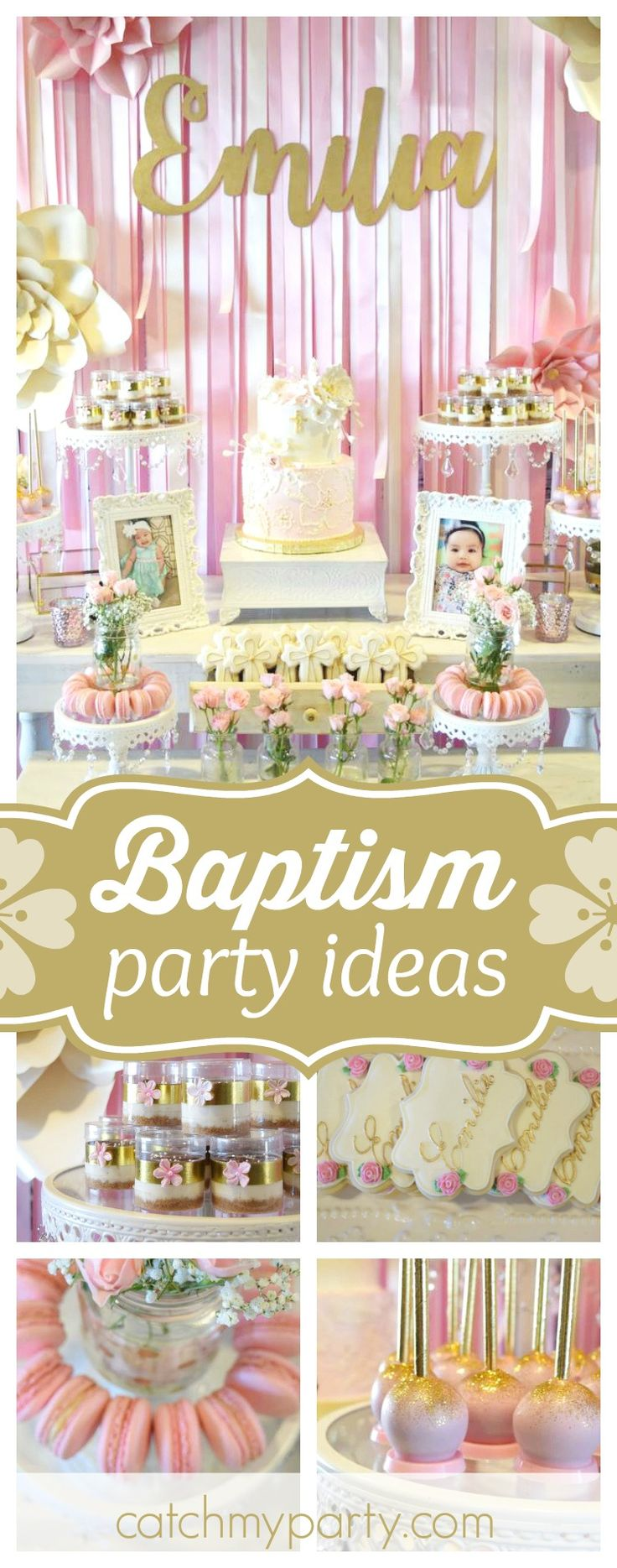594 best Baptism Party Ideas images on Pinterest Baby boy baptism