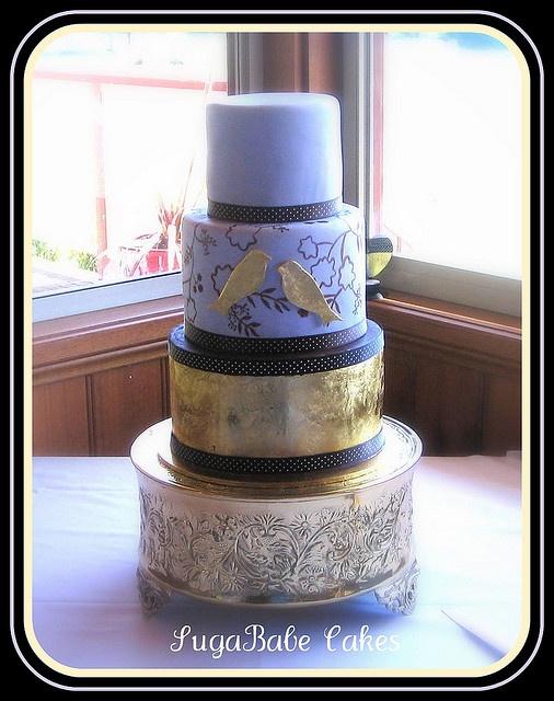 Gilded Cake by Kathy (SugaBabe Cakes), via FlickrSugababes Cake, Wedding'S Engagement Cake, Weddingengagement Cake, Gilded Cake, Wedding Engagement Cake