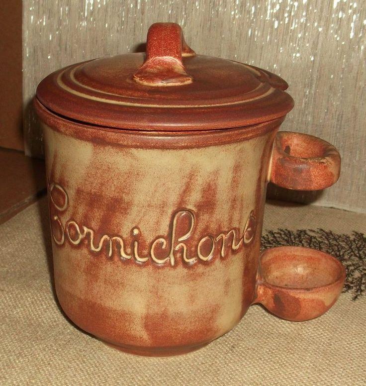 Details About Vallauris Stoneware Ceramic Cornichons