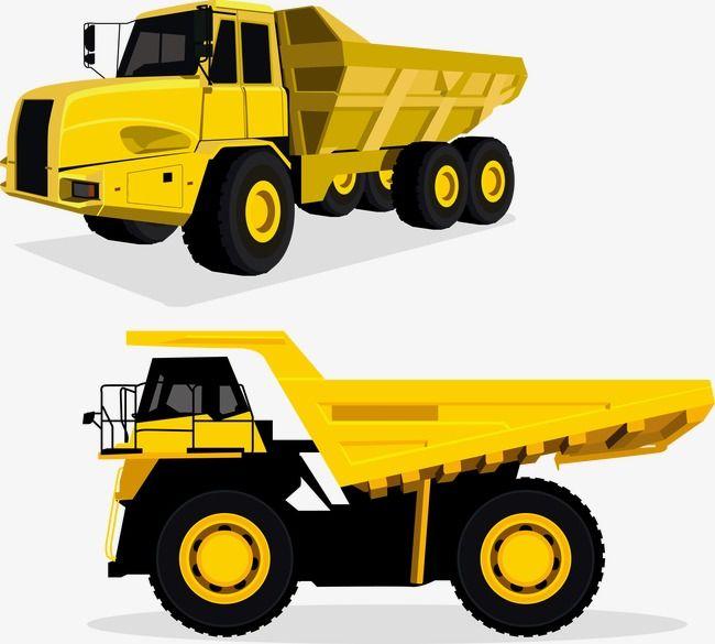 Vector Yellow Dump Truck Png And Vector Dump Truck Trucks Car