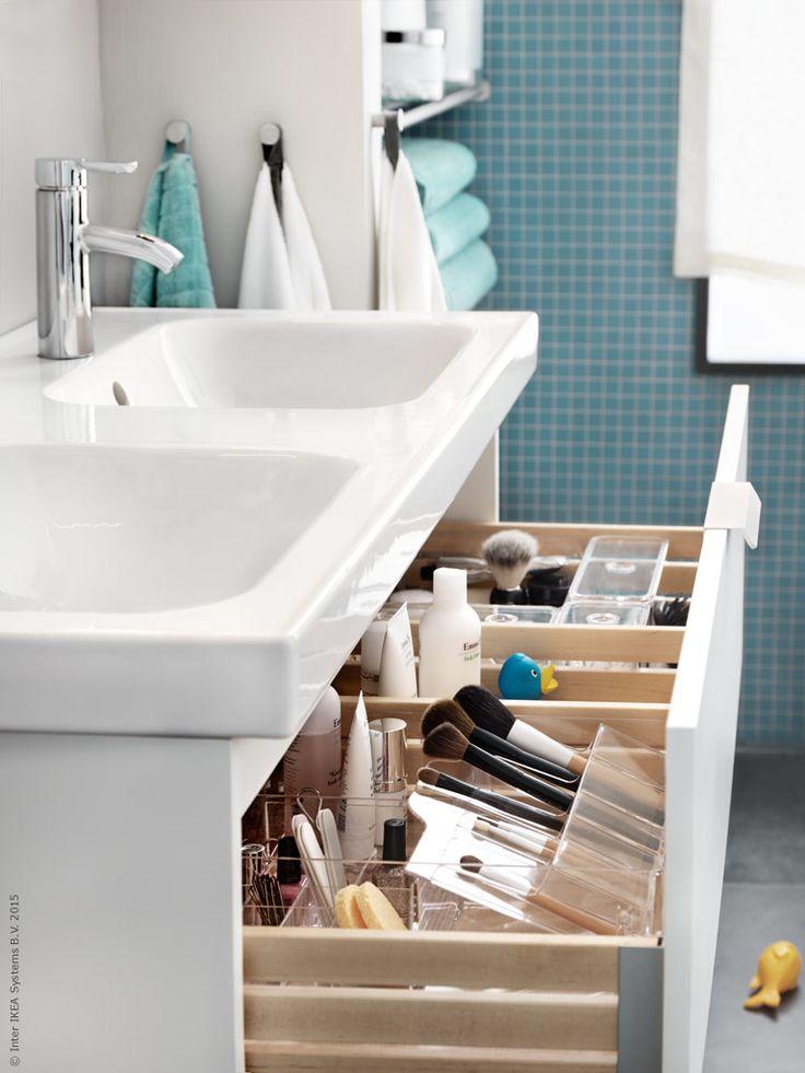 Dags att ta kontroll över morgonrusningen - vi inreder badrummet med plats för allt och alla! Här finns rum för både stora och små, och allt från tandkräm till storslagna tankar.