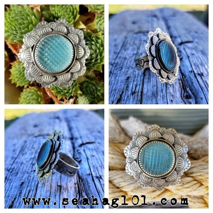 Japanese Ohajiki Flat Marble Silver Stamped Statement Ring Size 7   www.seahag101.com   #seahag101 #dirtywhitejeepbeachtours #love #peace #ohajiki #marble #blessed #grateful #halsteadmakers #glassingmagazine #hope #circle #life #gratitude #friends #seaglass #beach #surf #japan #heart #yoga #chakra #calm #rings