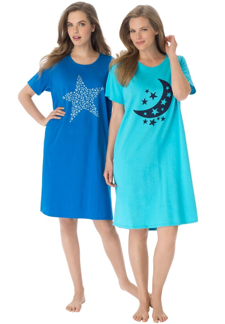 Plus Size 2-pack Sleepshirt