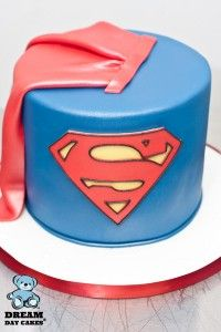 Superhero Birthday Cake - love that cape!