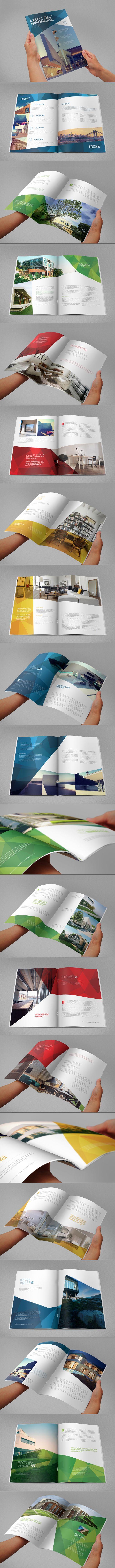 Modern Architecture Magazine. Download here: http://graphicriver.net/item/modern-architecture-magazine/7717553?ref=abradesign #magazine #design