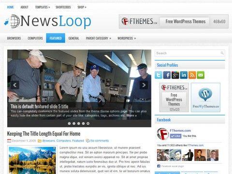NewsLoop WordPress theme