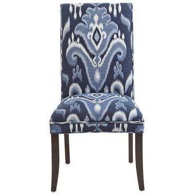 Angela Deluxe Dining Chair Indigo Ikat Home Office
