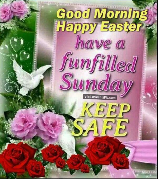 Good Morning Happy Easter Have A Funfilled Sunday