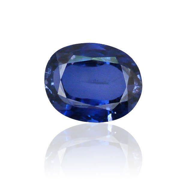 8,22ct Saphir blau oval facettiert  Saphir 8,22 ct Farbe blau farbverbessert Länge 12,66 mm x Breite 10,23 mm x Höhe 6,22 mm Edelsteine kaufen - verkaufen Vintage Juwelen online anbieten durch Gutachter Sachverständigen