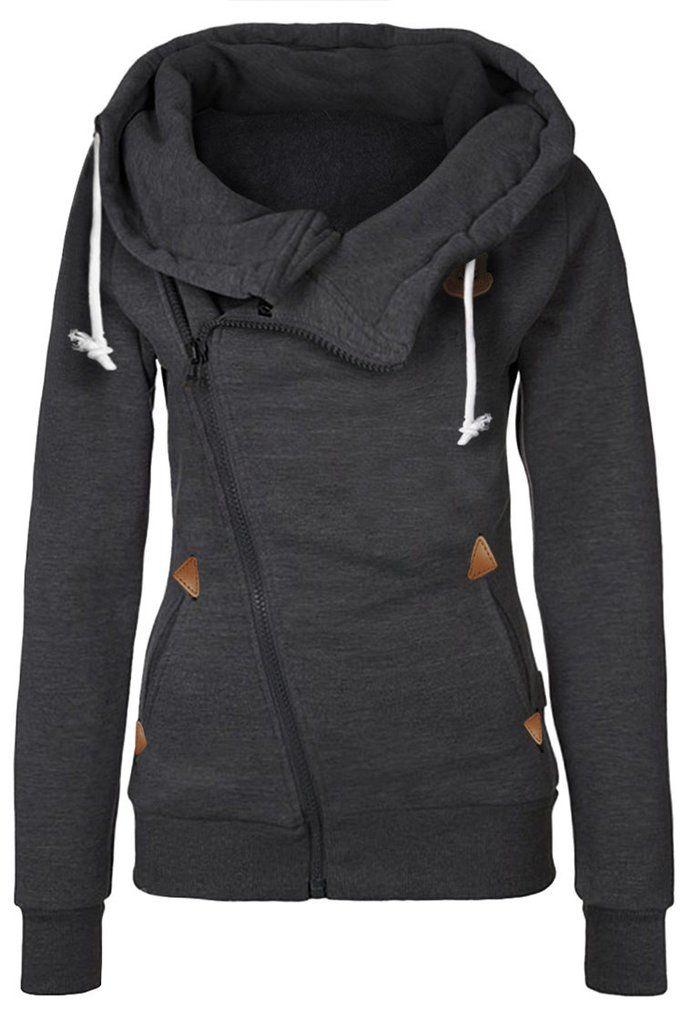 Cupshe Warm It Up Zip Hooded Sweatshirt