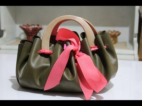 TUTORIAL: Come fare una BORSA fai da te con ecopelle/How to make a faux leather with BAG - YouTube