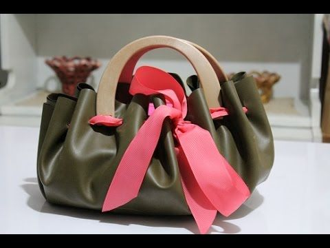 TUTORIAL: Come fare una BORSA fai da te con ecopelle/How to make a faux leather with BAG - YouTube