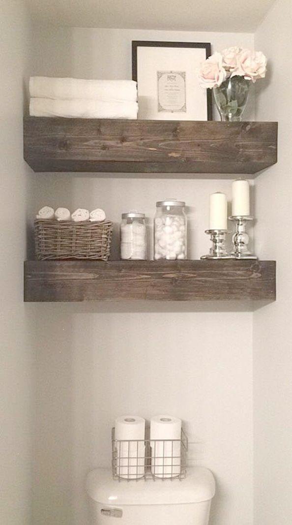 rustic wood beam bathroom shelves new home pinterest bathroom rh pinterest com