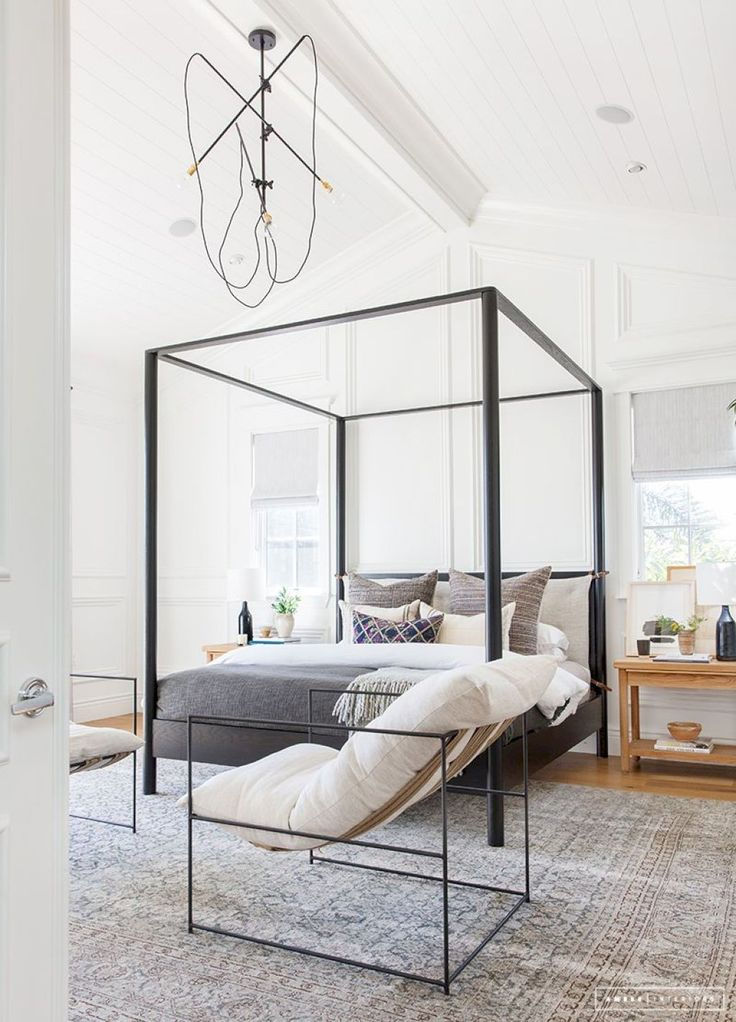 Pin by Amy Hallock on Bedrooms Canopy bed frame, Home