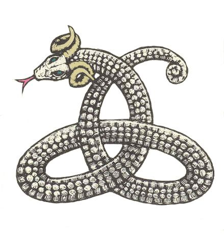 """""""about us"""" page w/info on horned serpent & appearance in various cultures"""