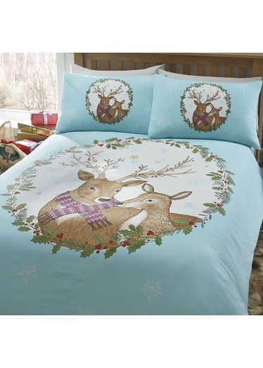 Mr and Mrs Stag Super King Size Bedding