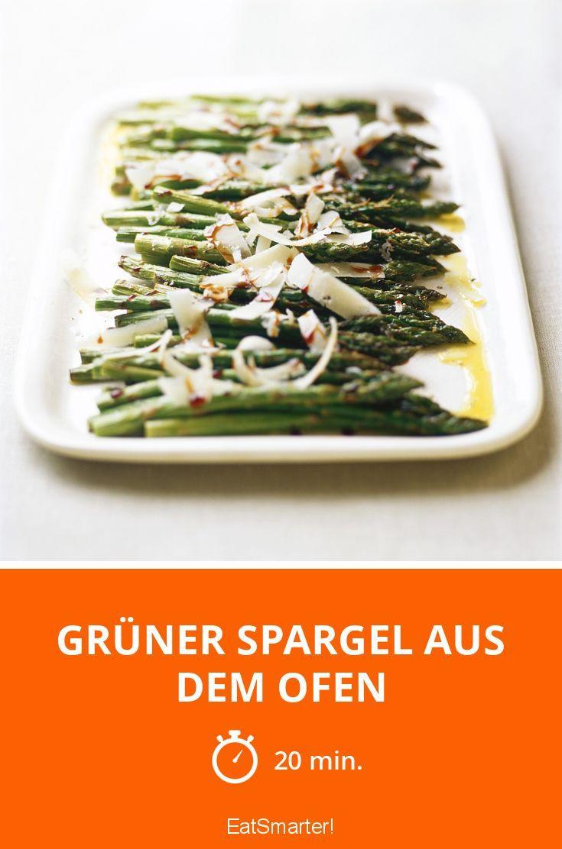Schnell und lecker: Grüner Spargel aus dem Ofen