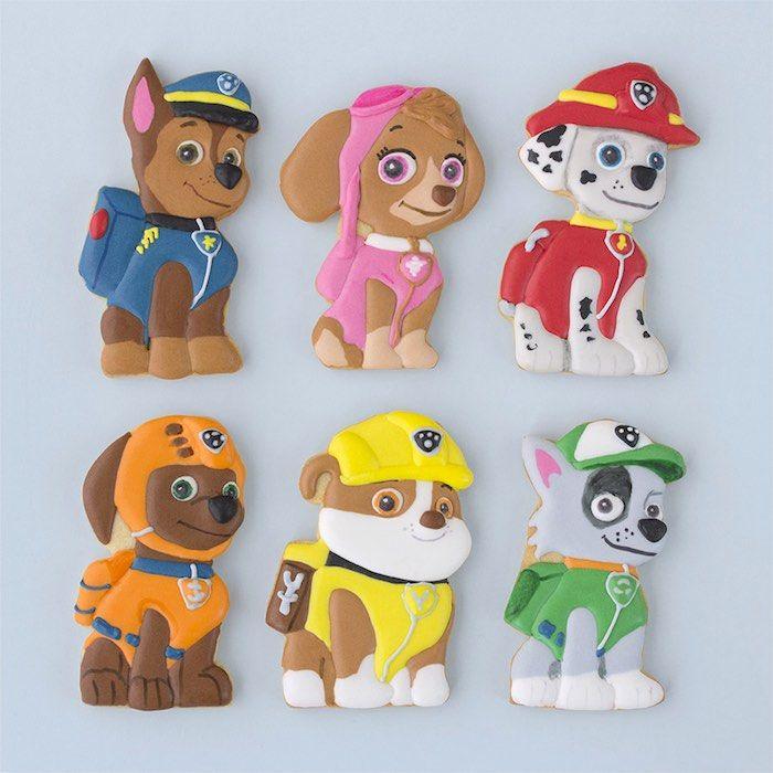 fiesta de la patrulla canina con imprimibles y recortables galletas