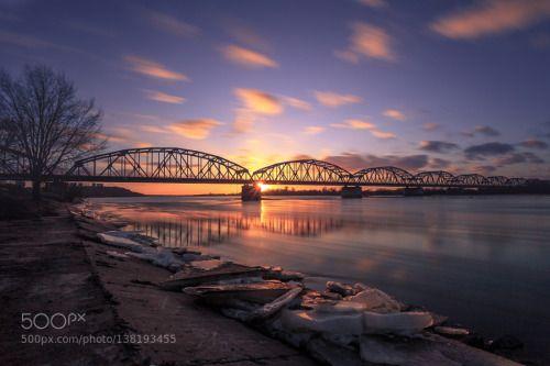 Wisła - Grudziądz by MateuszKiziorek  big stopper bridge canon clouds grudziądz landscape lee long exposure poland polska river sky water