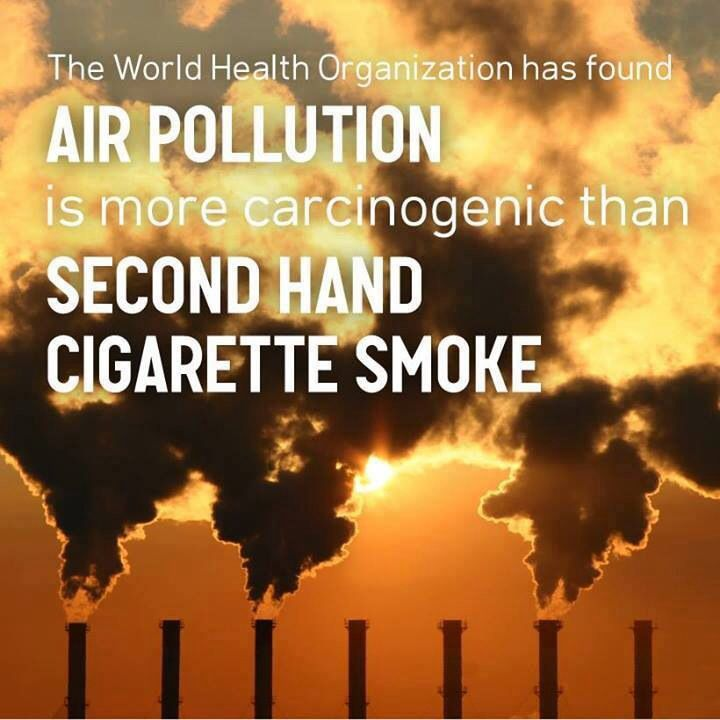 Air pollution is more carcinogenic than second