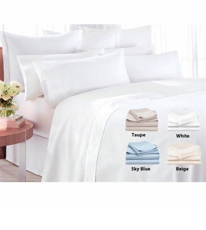 Luxurious 300 count organic cotton sateen bed sheet set - Save 74%