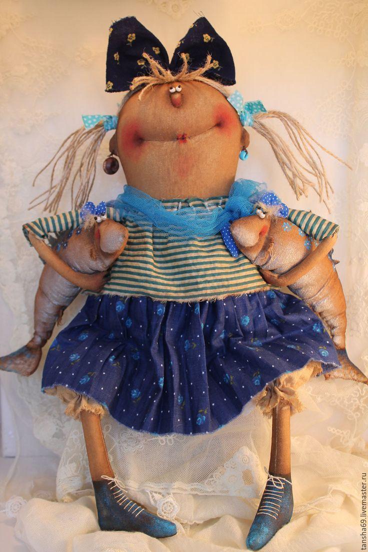 Купить Ангел.Знак зодиака Рыбы - комбинированный, текстильная кукла, ароматизированная кукла, интерьерная кукла