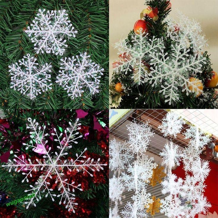 White Snowflake Ornaments