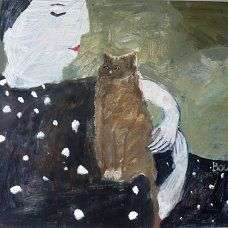 Susan Bower, Monica's Cat   Lynne Strover Gallery