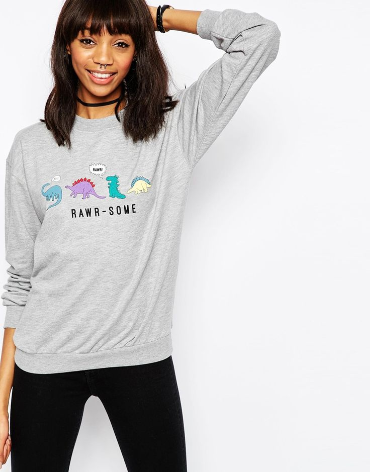 ASOS Sweatshirt with RAWR-SOME Print