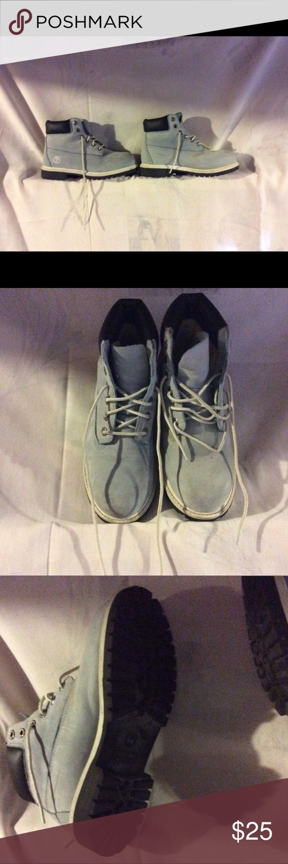 Girls Timberland Boots Lt Blue Girls Timberland boots. Brand new worn only a few times. Size 4 Timberland Shoes Boots