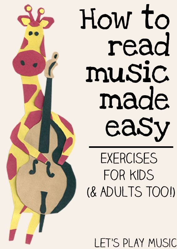 Let's Play Music : How to Read Music Made Easy - Exercises for Kids (& adults too!)