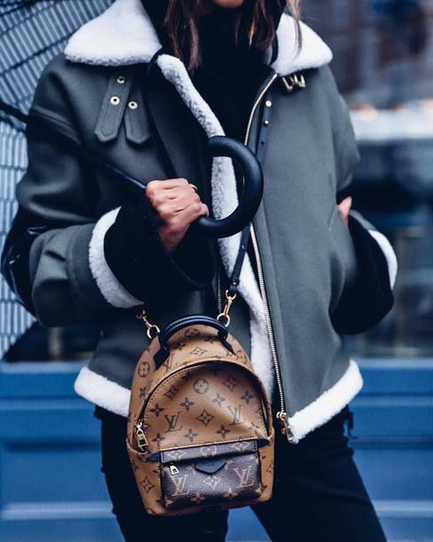 Bag: tumblr backpack mini backpack louis vuitton louis vuitton louis vuitton backpack jacket green