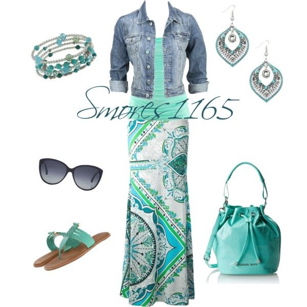 """Denim and Maxi Style"" by smores1165 on Polyvore"