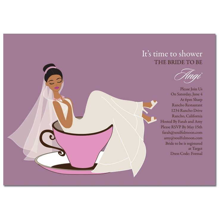 Unique African American Bridal Shower Invitations from ...