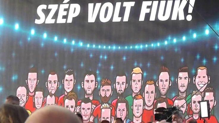 """A magyar futball válogatott fogadása a Hősök Terén 2016.06.27. """" Az éjje..."""