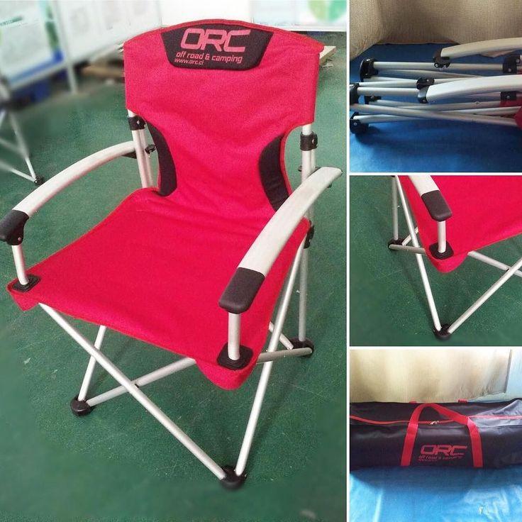Las sillas más robustas y cómodas para largas travesías! $48.900 incluye bolso impermeable! Info@orc.cl #camping #silladecamping #campingchair #overland #orcchile