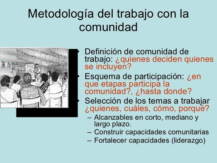Resultado de imagen para definicion de trabajo comunitario