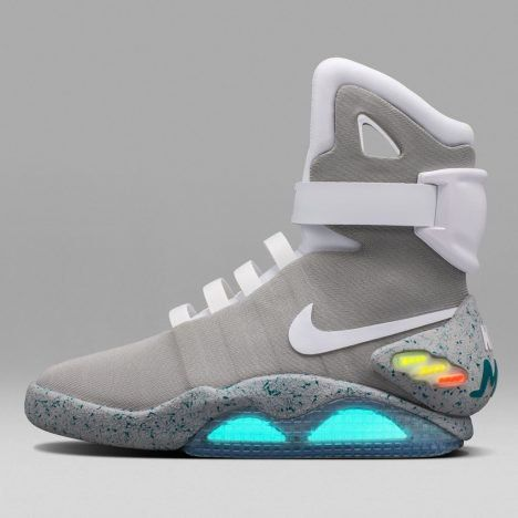 Nike has been working on these Back to the Futute II trainers since 2005, but only recently was able to integrate the required tech.