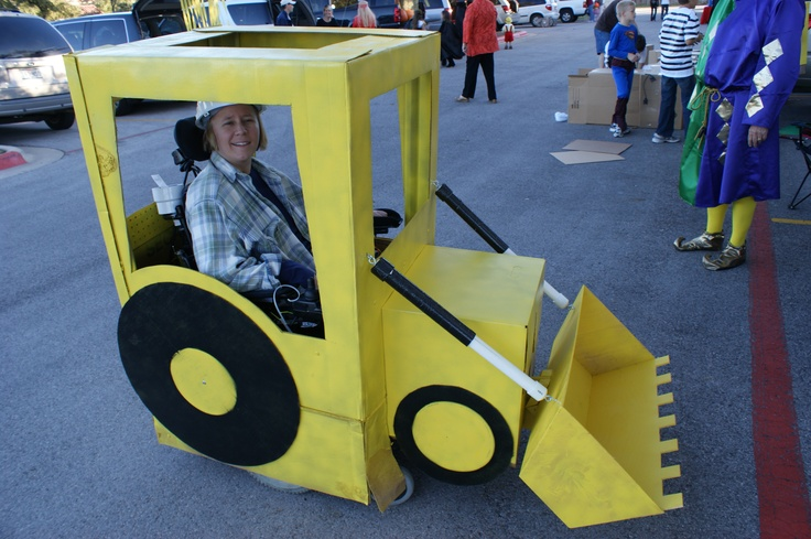 """""""JEN"""" DEER...CONSTRUCTION DUMP TRUCK--THE BUCKET WAS FILLED W/CANDY TO PASS OUT, & RAISED & LOWERED W/THE FEET"""